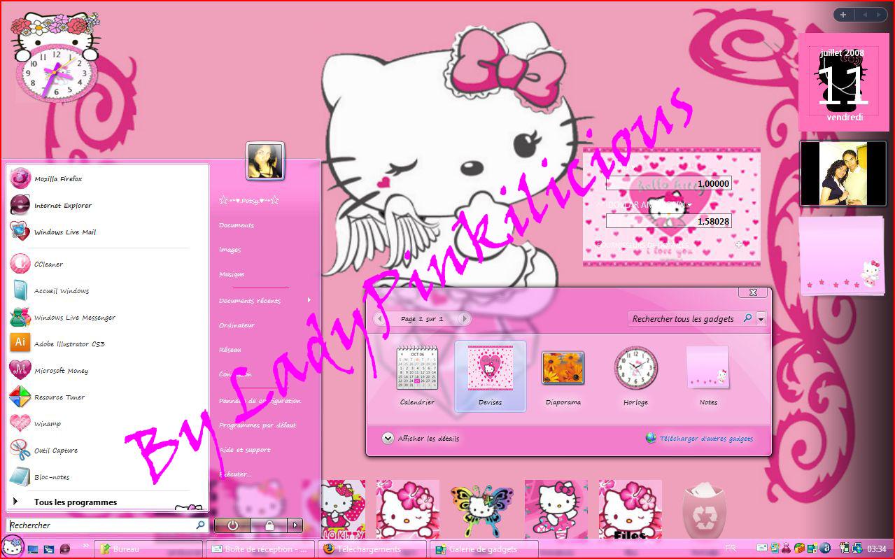 Hello Kitty windows vista