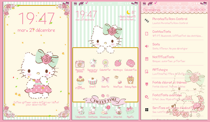 Hello Kitty Sweet macaron for Samsung Theme Store by LadyPinkilicious