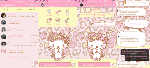 Hello Kitty Leopard Whatsapp for Android by LadyPinkilicious