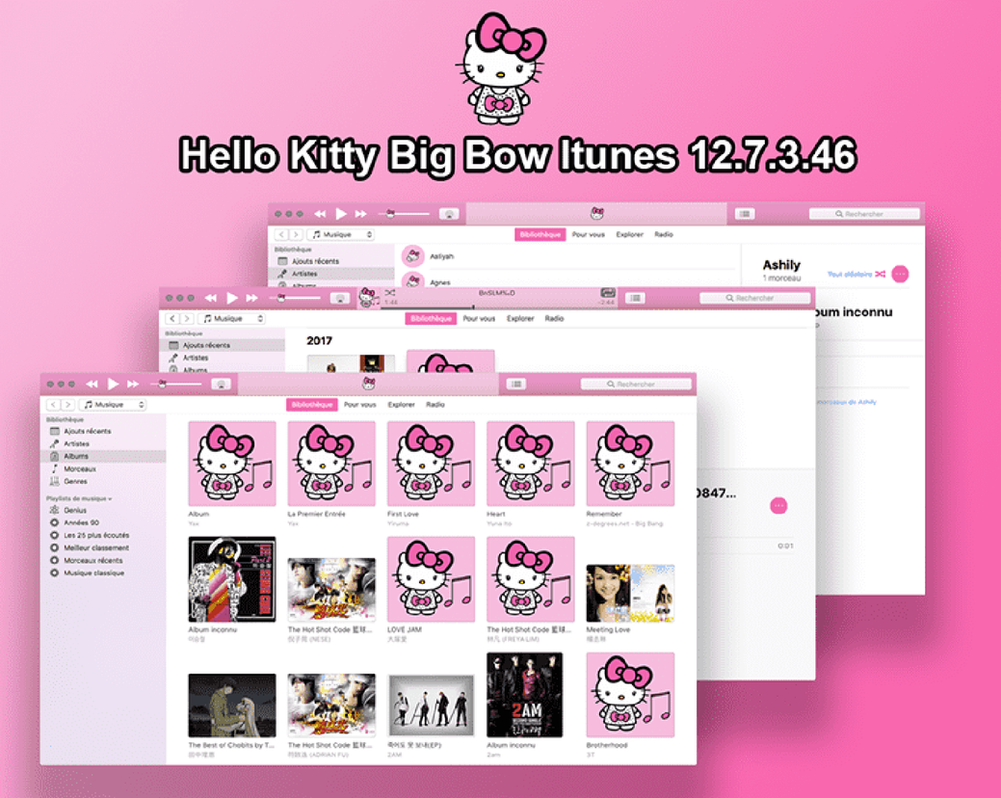 Hello Kitty itunes 12 MAC OS X by LadyPinkilicious