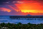 Juno-Bach-Pier-at-Sunrise-Breaking-Through-Storm