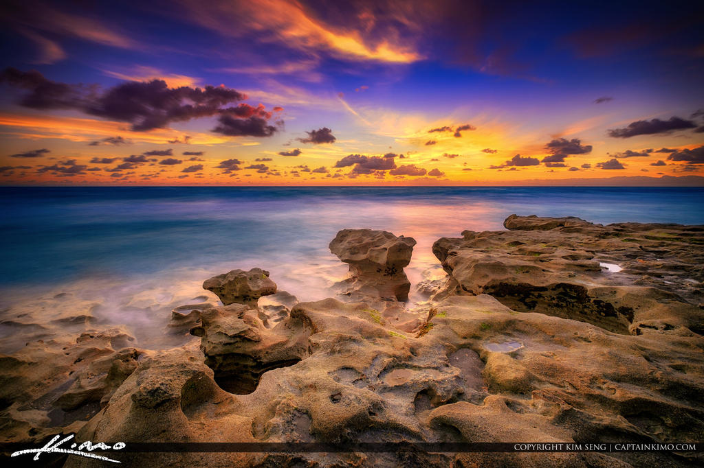 Carlin-Park-by-the-Rocks-Before-Sunrise-Jupiter-Fl by CaptainKimo
