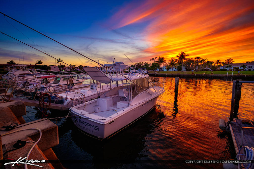 Anchorage-Park-North-Palm-Beach-Sunset-Boat-Dock by CaptainKimo