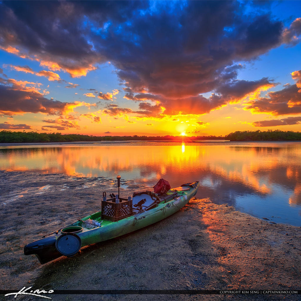 Kayak-Fishing-Lake-Worth-Lagoon-Sunset-Singer-Isla by CaptainKimo