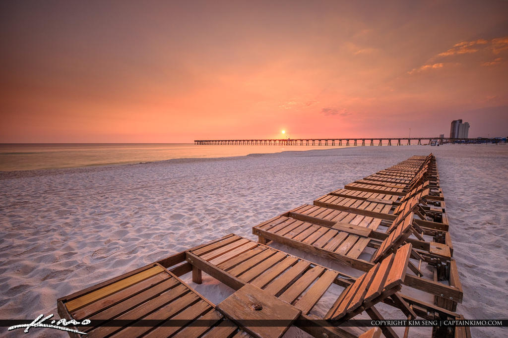 Sunset-Over-Russell-Fields-Pier-at-Pier-Park-Panam by CaptainKimo