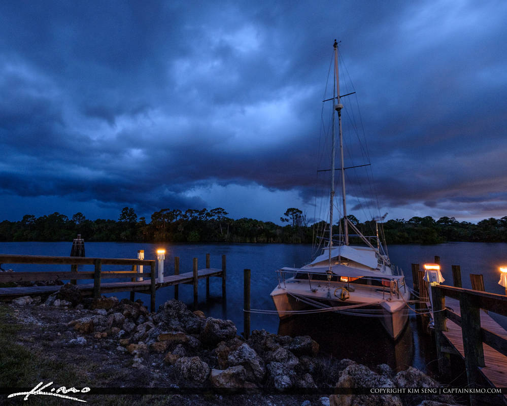 Stuart-Florida-Storm-St-Lucie-River-Loack-and-Dam- by CaptainKimo