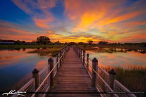 Royal-Palm-Beach-Sunset-Commons-Park-Bridge by CaptainKimo