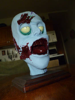 Zombie Head Sculpture