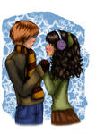 Ron and Hermione colored