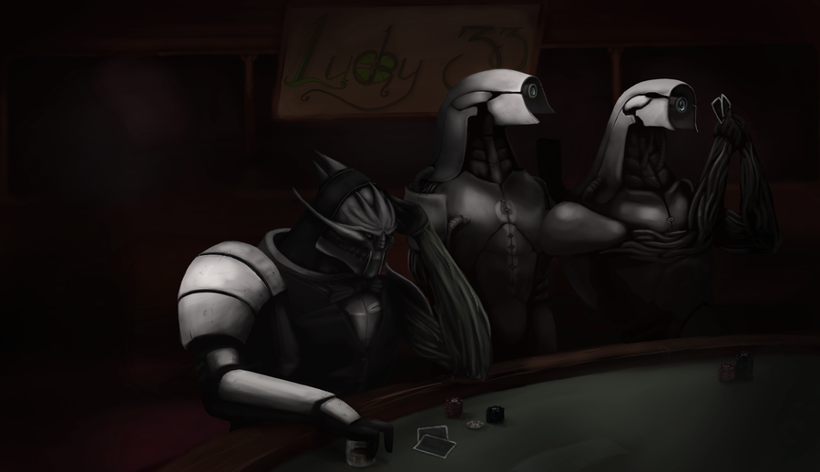 Chilling at the Casino - WIP 6 by VillageIdiot55