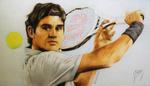 Roger Federer by Lydiart95