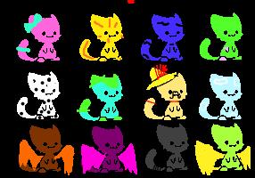 Chibi Cat Adopts: FREE! by superstel