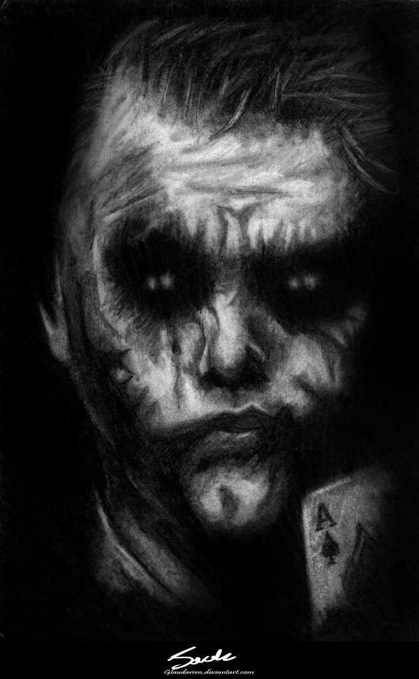 Gift: Heath Ledger's Joker. by JackEavesArt