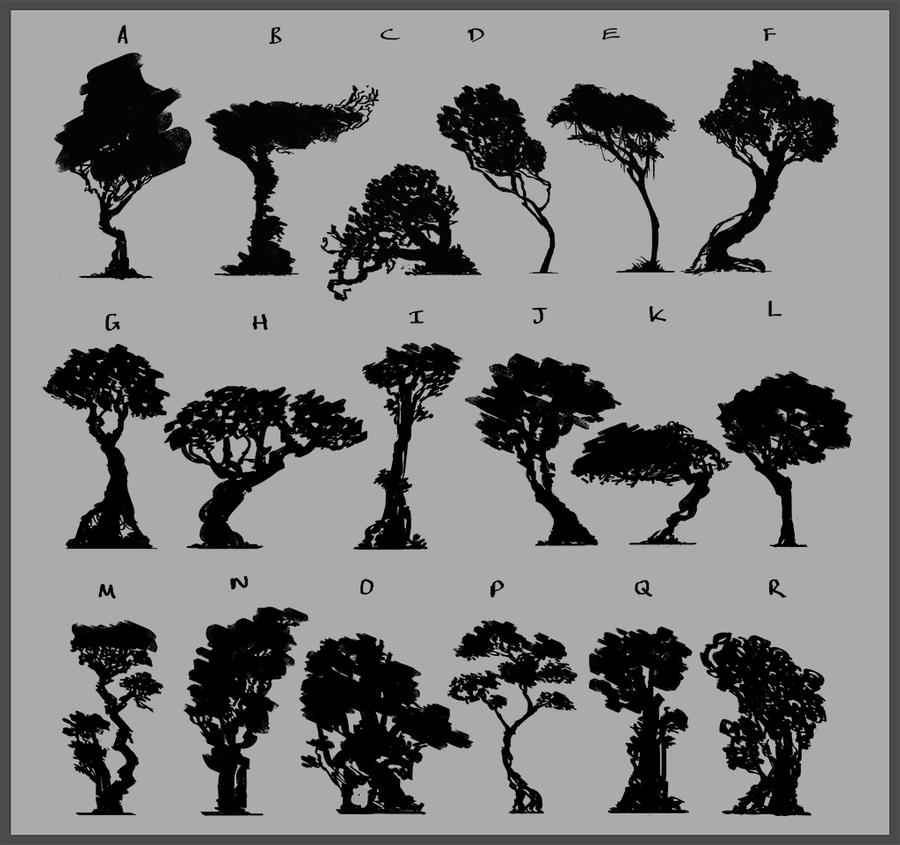 Tree Silhouettes by JackEavesArt