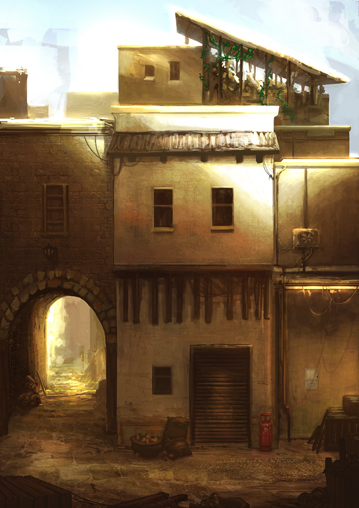 A Journey of Intrigue: Side Street Concept by JackEavesArt