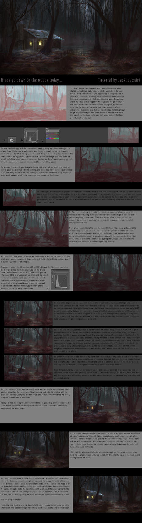 If you go down to the woods today... TUTORIAL by JackEavesArt