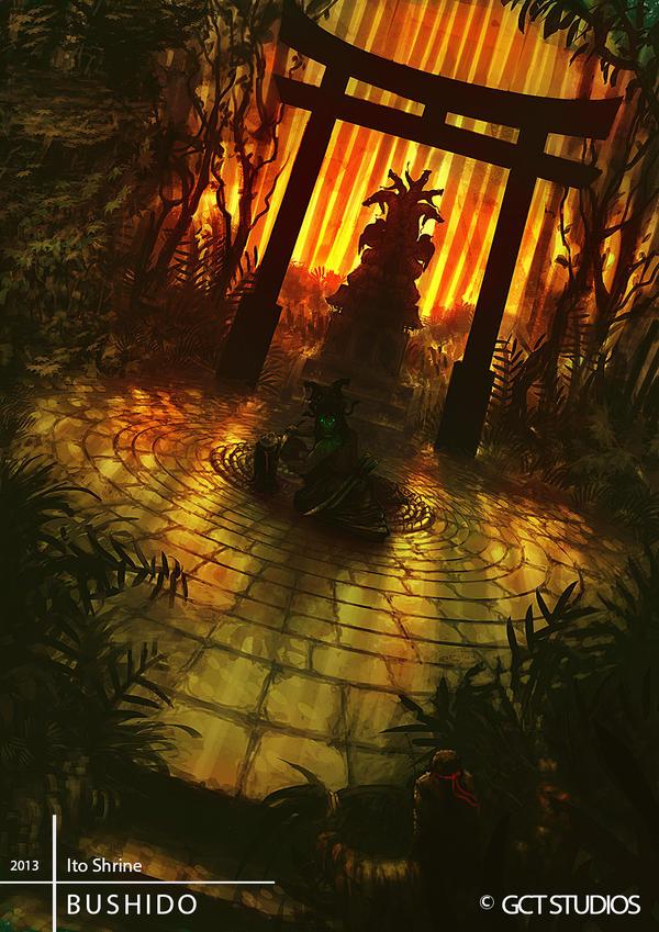 BUSHIDO: Ito Shrine by JackEavesArt