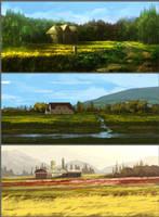 Farmhouse by JackEavesArt