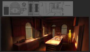 A Forgotten Journey - Kitchen Interior by JackEavesArt