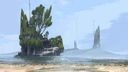 The Misted Towers by JackEavesArt