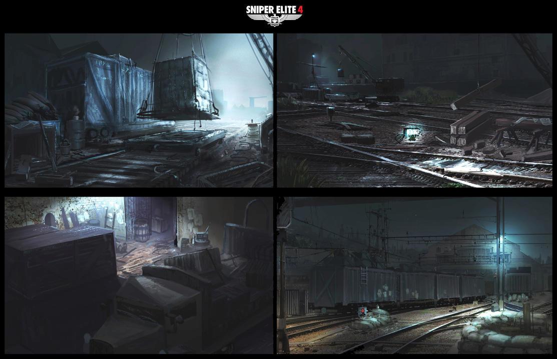 Sniper Elite 4 Concept 14 by JackEavesArt