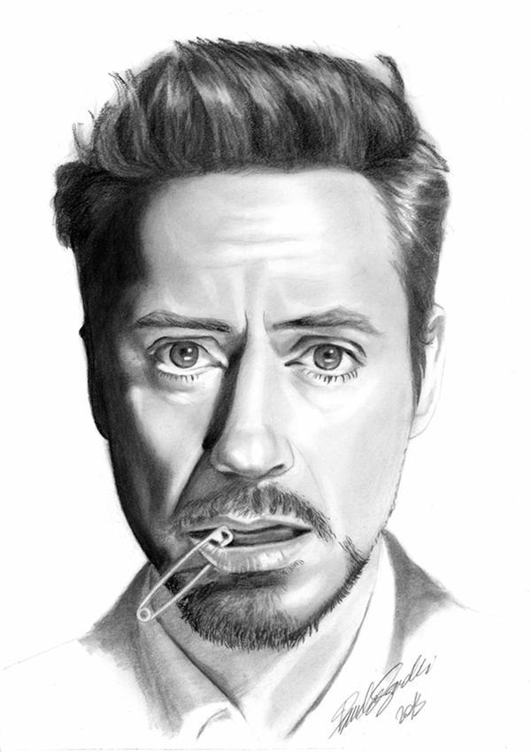 Robert Downey Jn, portrait tutorial in speedy by honeypamela