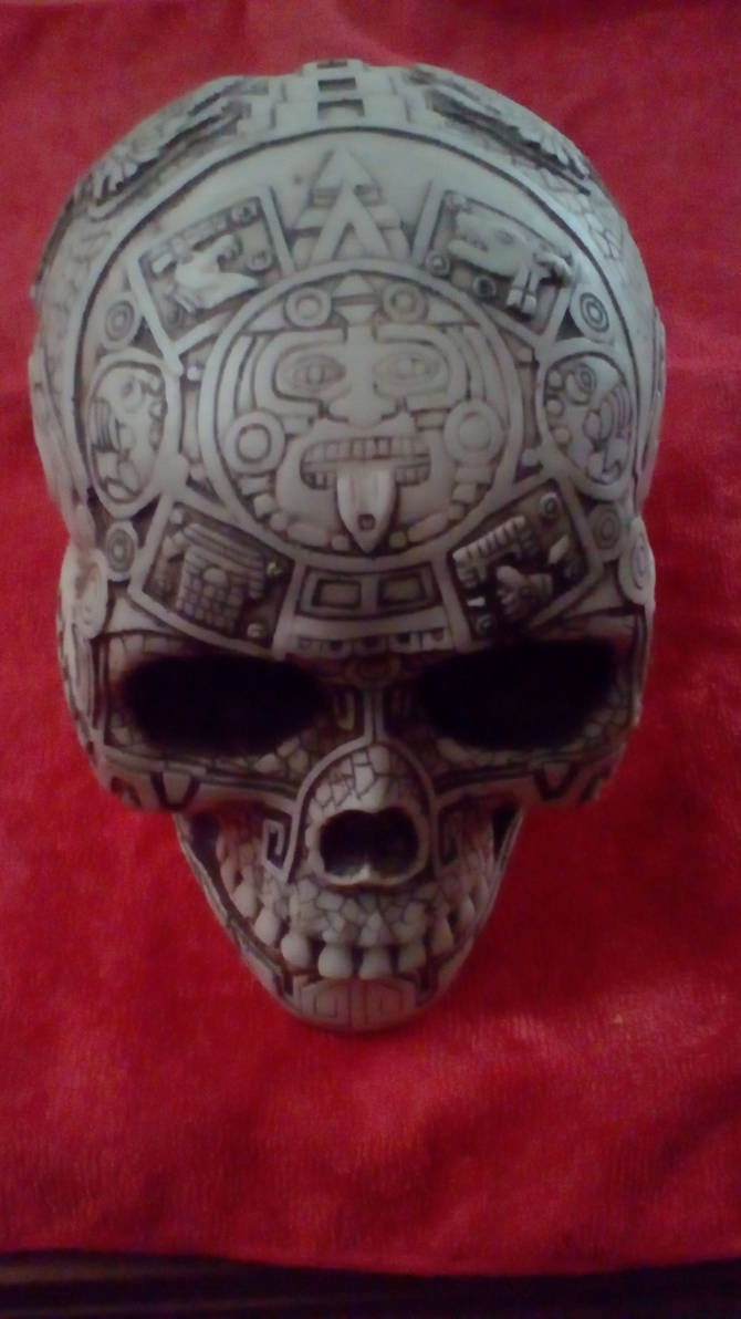 CALENDARIO AZTECA skull by ascencioirving