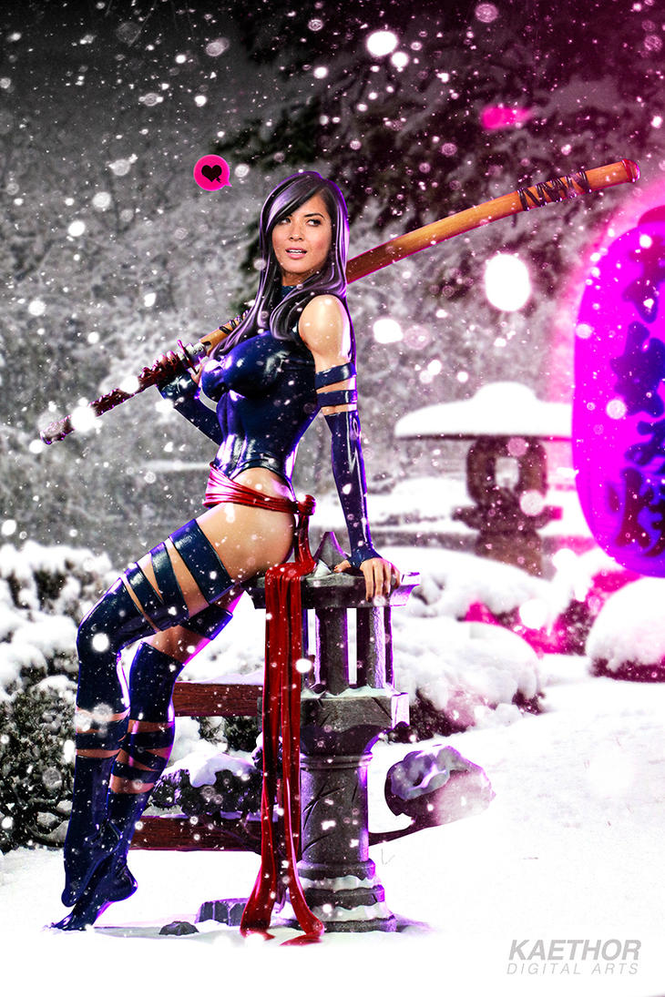 Olivia Munn as Psylocke by kaethor