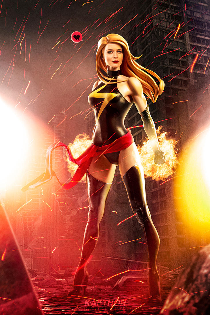Emily Blunt as Ms Marvel by kaethor