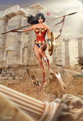 Gal Gadot as Wonder Woman by kaethor