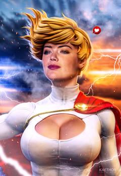 Kate Upton as Power Girl v.2