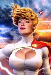 Kate Upton as Power Girl v.2 by kaethor
