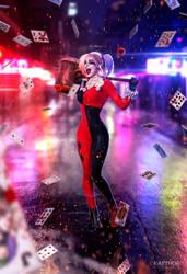 Margot Robbie - Harley Quinn by kaethor