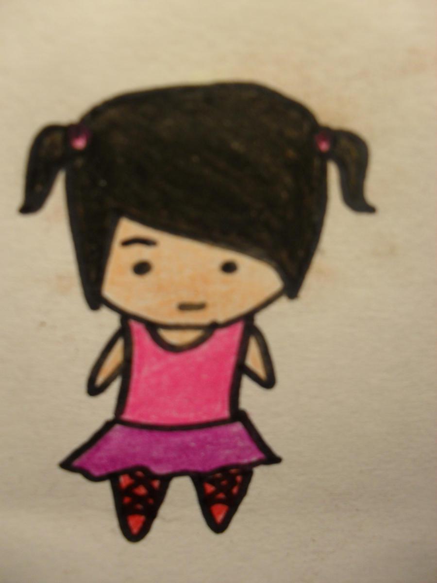 Chibi ballerina by the-denied