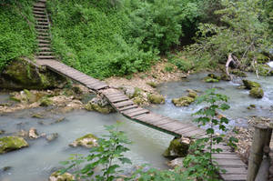 Little Bridge Over the River by Very-Free-Stock