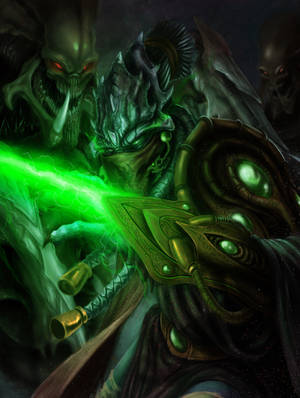 Zeratul,the Dark Templar by DottorFile