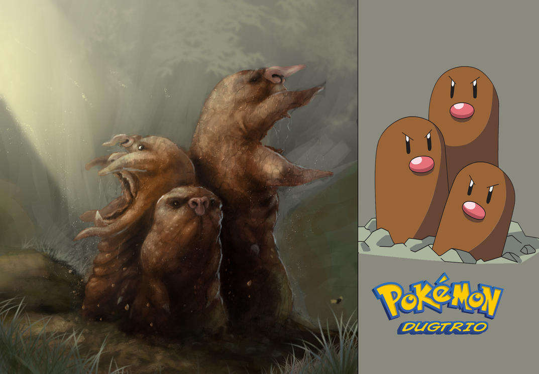 Pokemon Dugtrio Fan Concept by DottorFile