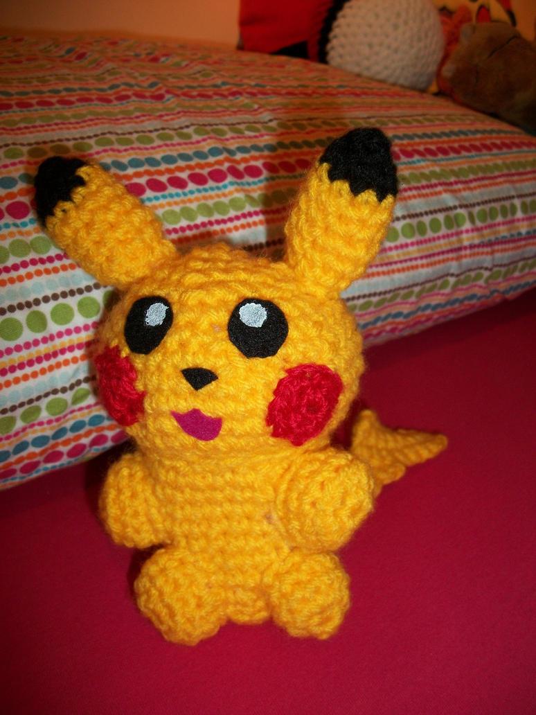 Chibi Pikachu Amigurumi : Mini-Pikachu amigurumi by Sasophie on deviantART