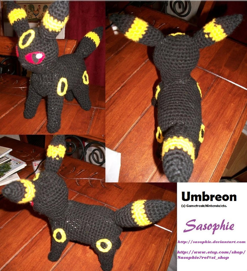 Umbreon amigurumi 2 by Sasophie on DeviantArt