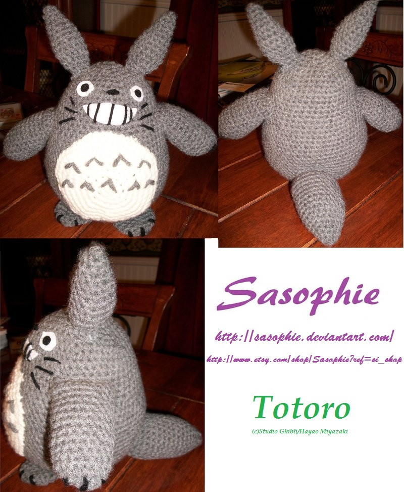 Totoro Amigurumi By Sasophie On Deviantart
