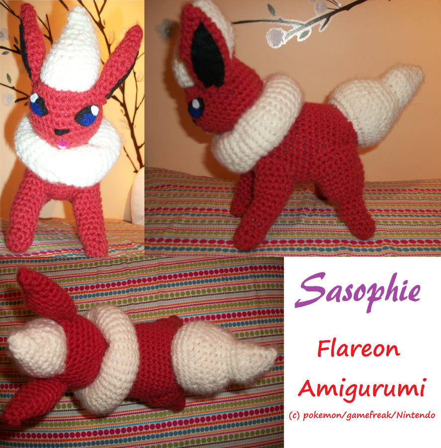 Flareon amigurumi by Sasophie on DeviantArt
