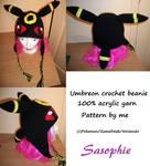 Umbreon crochet beanie 2