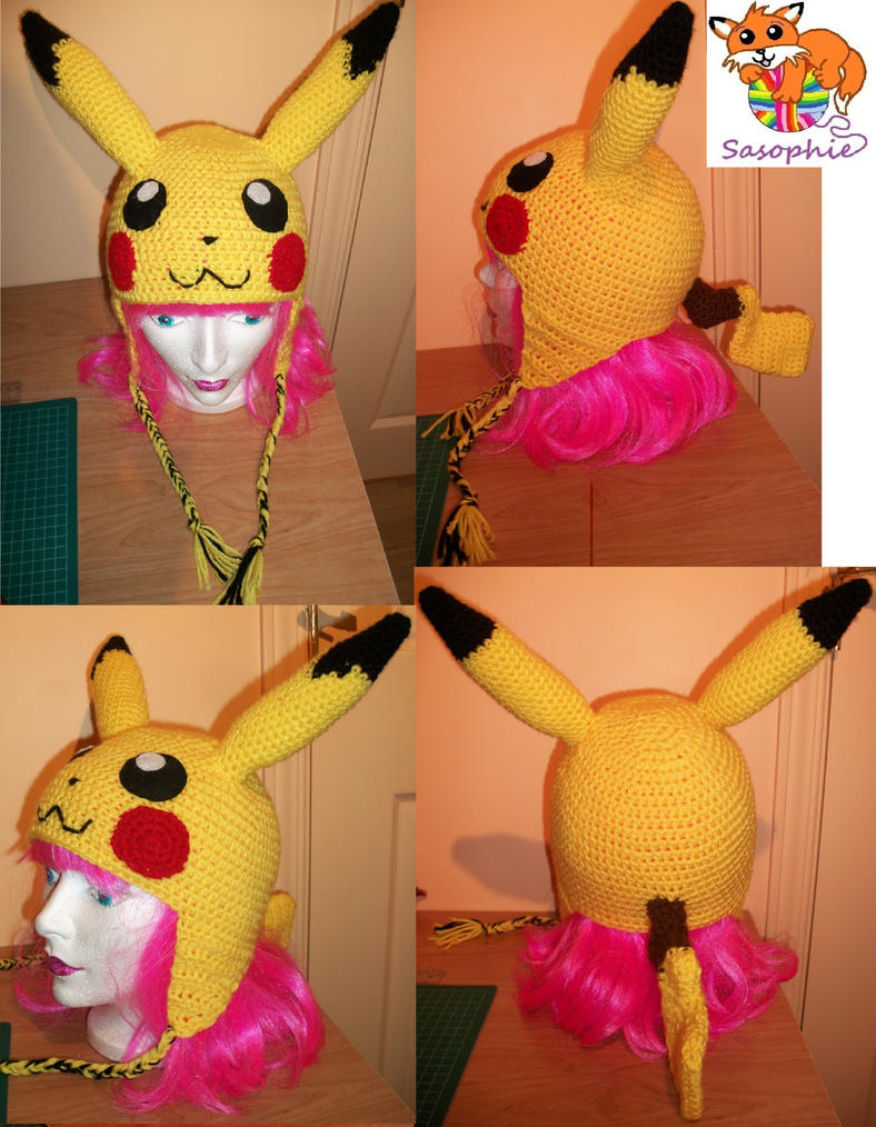 Pikachu crochet beanie by Sasophie on DeviantArt