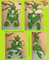 Scyther crochet plushie by Sasophie