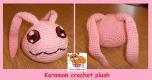 Koromon crochet plush