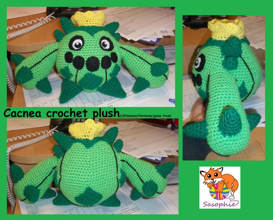 cacnea crochet plush by sasophie on deviantart