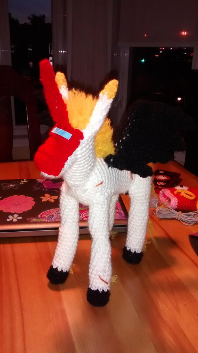 Unimon crochet plush by Sasophie