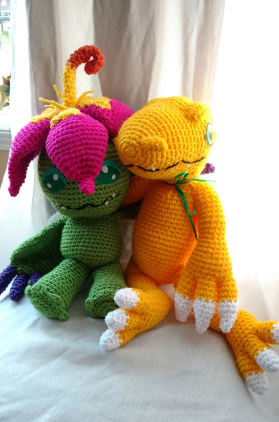Palmon and Agumon by Sasophie