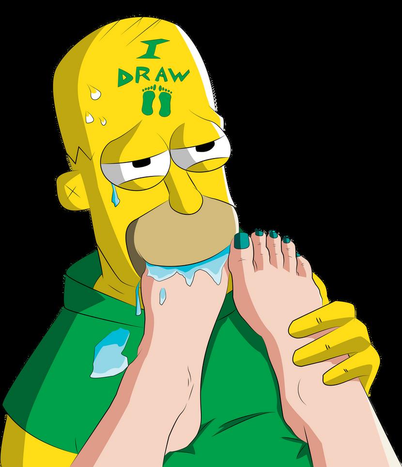 Homer Simpson LOVES feet by iDrawFeet