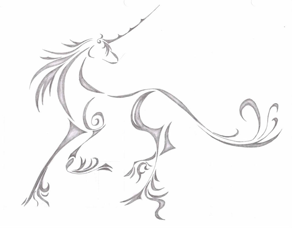 Unicorn on homework by ryua on deviantart for Simple unicorn tattoo
